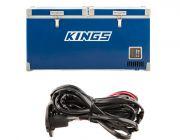 Kings 90L Camping Fridge Freezer | Dual Zone + 12v Fridge Wiring Kit