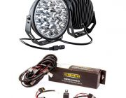 "Kings 9"" LED Driving Lights (Pair) + LED Driving Light Wiring Harness"
