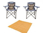 Adventure Kings - Mesh Flooring 3m x 3m + 2x Adventure Kings Throne Camping Chair