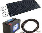 Adventure Kings 160W Semi-Flexible Solar Panel + 10m Lead For Solar Panel Extension + AGM Deep Cycle Battery 115AH