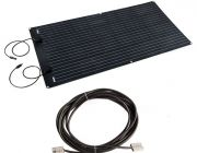 Adventure Kings 160W Semi-Flexible Solar Panel + 10m Lead For Solar Panel Extension