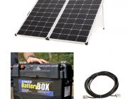 Adventure Kings 250w Solar Panel + 10m Lead with Solar Panel Extension + Maxi Battery Box