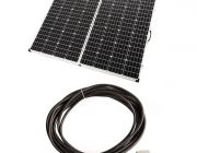Adventure Kings 250w Solar Panel | Portable | Light-Weight | Camp-Ready + 10m Lead with Solar Panel Extension
