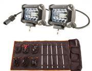 "Adventure Kings 4"" LED Light Bar + Complete 5 Bar Camp Light Kit"
