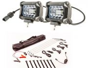 "Adventure Kings 4"" LED Light Bar + Illuminator 4 Bar Camp Light Kit"