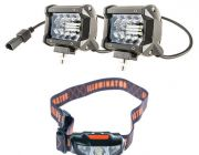 "Adventure Kings 4"" LED Light Bar + Illuminator LED Head Torch"