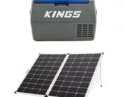 Adventure Kings 45L Camping Fridge + 250w Solar Panel