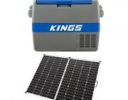 Adventure Kings 60L Camping Fridge/Freezer + 250w Solar Panel