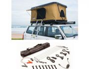 Kings Kwiky MKII Hard Shell Rooftop Tent + Illuminator 4 Bar Camp Light Kit