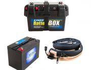 Adventure Kings AGM Deep Cycle Battery 115AH + Battery Box + Adventure Kings LED Strip Light
