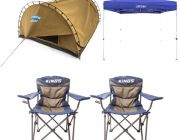 Adventure Kings Double Swag Big Daddy Deluxe + Gazebo 3m x 3m + 2x Throne Camping Chair