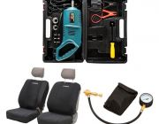 Adventure Kings Neoprene Front Seat Covers + Hercules 12V Impact Wrench + Kwiky Tyre Deflator