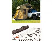 Adventure Kings Roof Top Tent + 4-man Annex + Illuminator 4 Bar Camp Light Kit