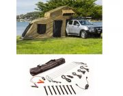 Adventure Kings Roof Top Tent + 6-man Annex + Illuminator 4 Bar Camp Light Kit