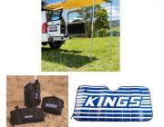 Adventure Kings Rear Awning 1.4 x 2m + Awning Sand Bag Kit (pair) + Sunshade