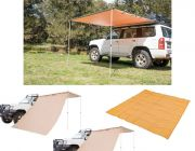 Adventure Kings Awning 2x2.5m + 2x Adventure Kings Awning Side Wall + Mesh Flooring 3m x 3m