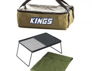 Adventure Kings Camp Fire BBQ Plate + Clear Top Canvas Bag