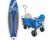 Adventure Kings Inflatable Stand-Up Paddle Board + Adventure Kings Collapsible Cart
