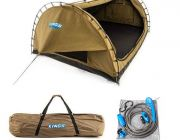 Kings Big Daddy Deluxe Double Swag + Polyester Swag Bag + Portable Shower Kit