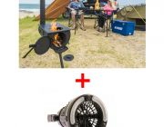 Adventure Kings Camp Oven/Stove + 2in1 LED Light & Fan