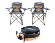 2x Adventure Kings Throne Camping Chair + LED Strip Light
