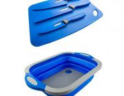Adventure Kings Collapsible Sink + 4-Piece Camping Chef's Knives Kit