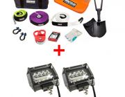 "Hercules Complete Recovery Kit + Adventure Kings 4"" LED Light Bar"