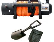 Domin8r X 12,000lb Winch with rope + Recovery Folding Shovel