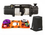 Domin8r Xtreme 12,000lb Winch + Hercules Essential Nylon Recovery Kit + Kings Dirty Gear Bag