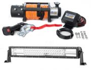 "Domin8r X 12,000lb Winch with rope + Adventure Kings Domin8r 22"" LED Light Bar"