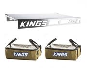 2 x Adventure Kings Clear Top Canvas Bag + Drawer Table suitable for 900mm & 1300mm Titan Drawers
