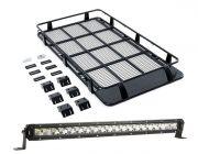 """Full Length Steel Roof Racks + 20"""" LETHAL MKIII Slim Line LED Light Bar"""