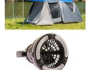 Adventure Kings 6 Person Geo Dome Tent + 2in1 LED Light & Fan