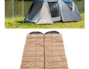 Adventure Kings 6 Person Geo Dome Tent + 2x Premium Winter/Summer Sleeping Bag -5°C to +5°C