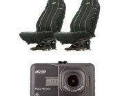 Adventure Kings Dash Camera + Adventure Kings Heavy Duty Seat Covers (Pair)