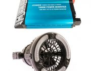 Adventure Kings 1500W Inverter + Adventure Kings 2in1 LED Light & Fan