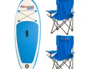Kids Inflatable Stand-Up Paddle Board + 2x Adventure Kids Camping Chair