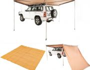 Adventure Kings 270° King Wing Awning + Mesh Flooring 3m x 3m + 270° King Wing Awning Wall