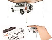 Adventure Kings 270° King Wing Awning + 270° King Wing Awning Wall + Illuminator 4 Bar Camp Light Kit