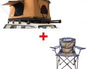 Adventure Kings 'Kwiky' Pop Up Roof Top Tent + Adventure Kings Throne Camping Chair