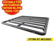 Adventure Kings Aluminium Platform Roof Rack Suitable for Mitsubishi Triton ML-MN Dual-Cab 2006-2015