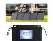 Adventure Kings 250W Solar Blanket + 138Ah AGM Deep-Cycle Battery