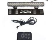 "Kings 15"" Numberplate LED Light Bar + Heads Up Display (HUD)"