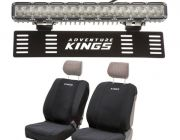 "Kings 15"" Numberplate LED Light Bar + Neoprene Front Seat Covers"