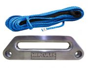 Hercules Synthetic Winch Rope - 9mm x 28m + Hercules Offset Fairlead