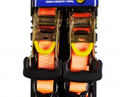 Kings 450kg Ratchet Straps | Twin-Pack | 3m Long | 1300kg Break Strength | Heavy-Duty