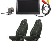 "Adventure Kings Reverse Camera Kit with 5"" Screen + Heavy Duty Seat Covers"