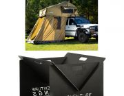 Adventure Kings Roof Top Tent + 4-man Annex + Portable Steel Fire Pit