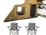 Adventure Kings Roof Top Tent + 6-man Annex + 2x Throne Camping Chair