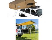 Adventure Kings Roof Top Tent + Rear Awning - 1.4 x 2m